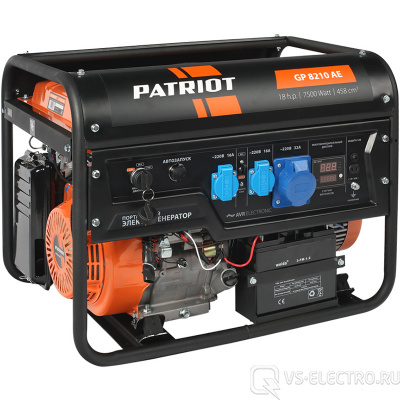 Бензиновый генератор PATRIOT GP 8210AE